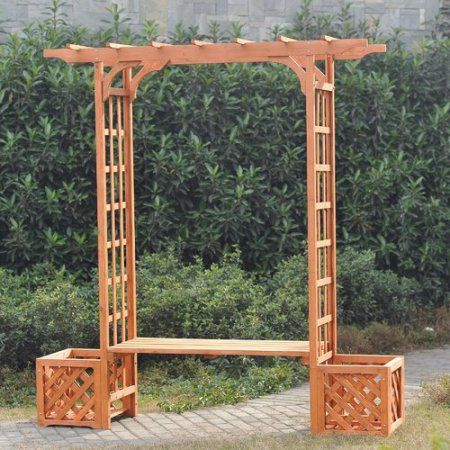 Phenomenal Free Shipping Buy Sunjoy Wooden Trellis Arch Wood Arbor Forskolin Free Trial Chair Design Images Forskolin Free Trialorg