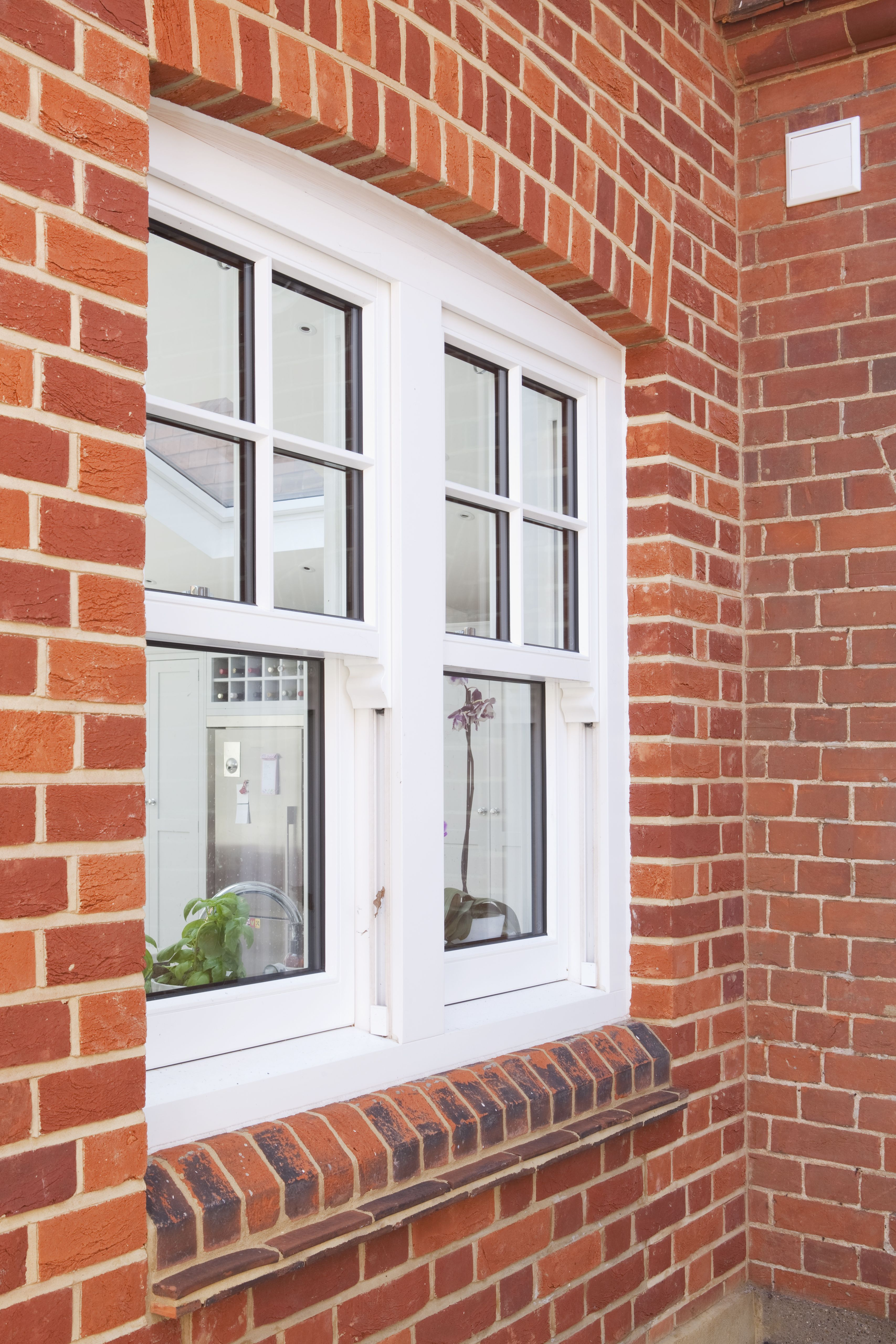 New traditional style double glazed Upvc window to new extension in ...