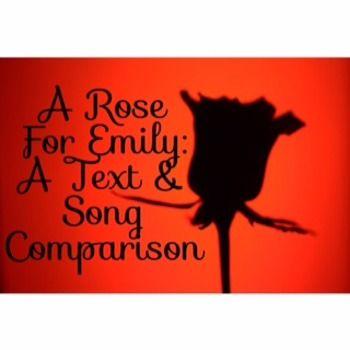 A Rose For Emily Short Story Vs The Song A Rose For Emily Teacher Checklist Short Stories