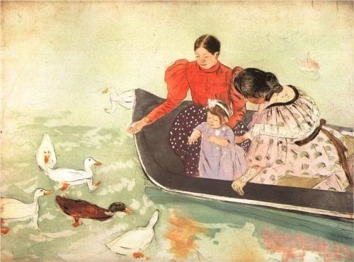 Mary Cassatt, Feeding the Ducks, 1895