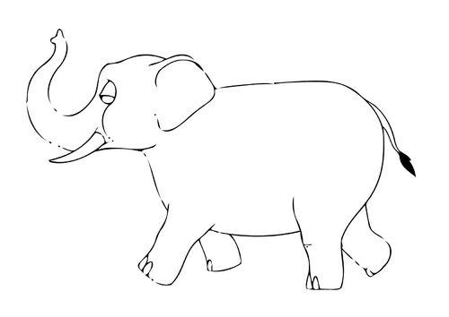 Malvorlage 07b Elefant Ausmalbild 11569 Elefant Ausmalbild Malvorlagen Elefant
