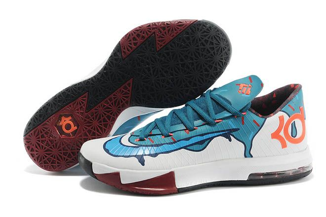 nike zoom kd vi ice cream white teal kevin durant