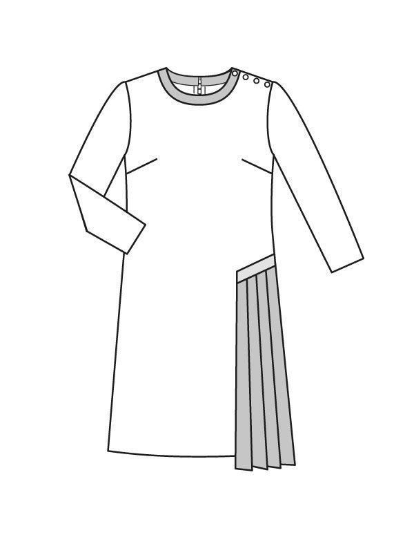 Выкройка платья с круглым вырезом