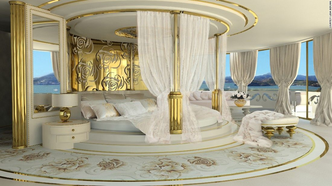 bedroom on la belle the world s first super yacht for a lady rh pinterest com best bedrooms for 11 year old best bedrooms for many kids