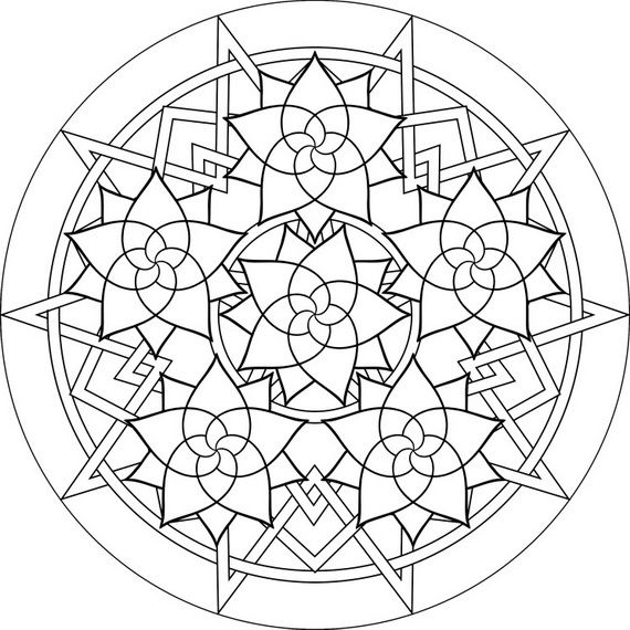 rose mandala free printable mandala coloring pages flower mandala black and