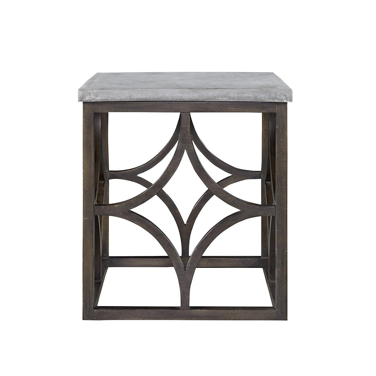 Hallow Faux Concrete Side Table Universal Furniture Furniture Wood Square