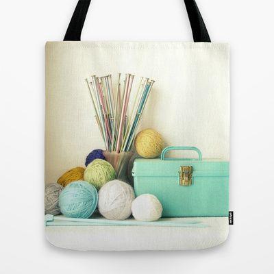 Yarn & Needle Tote Bag by Trisha Brink Design - $22.00