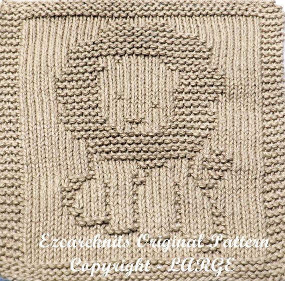 Knitting Cloth Pattern - HAPPY LION - PDF   León, Feliz y Tela