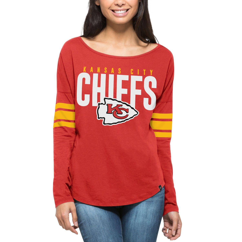 Women s  47 Red Kansas City Chiefs Courtside Long Sleeve T-Shirt ... 1909193ab
