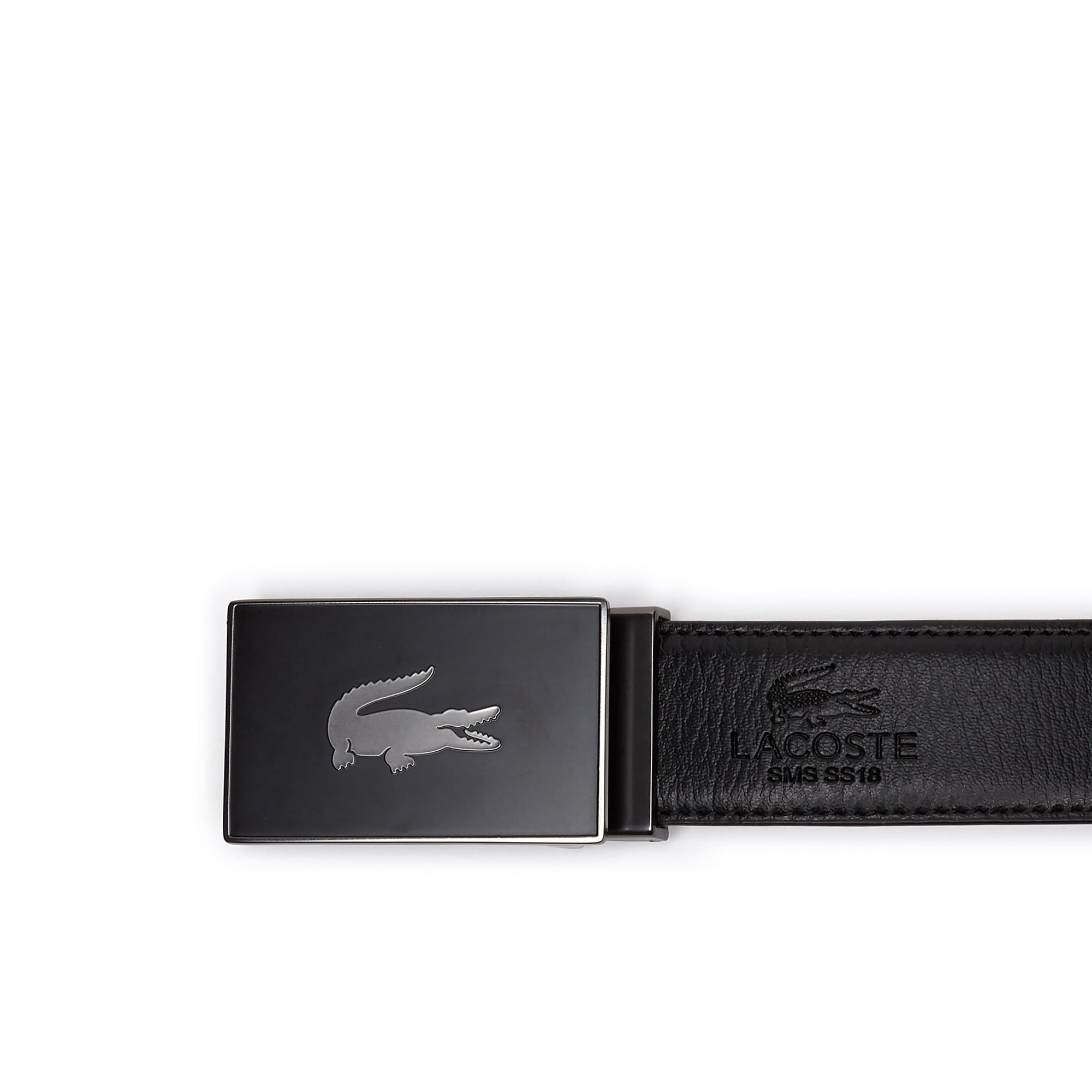 47af4ba8 Lacoste Men's Reversible Leather Belt And Two Buckles Gift Set ...