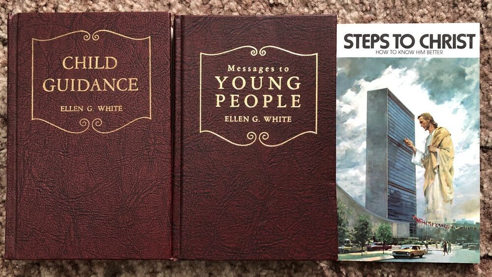 3 Assorted Books By Ellen G White Sda Adventist Christian