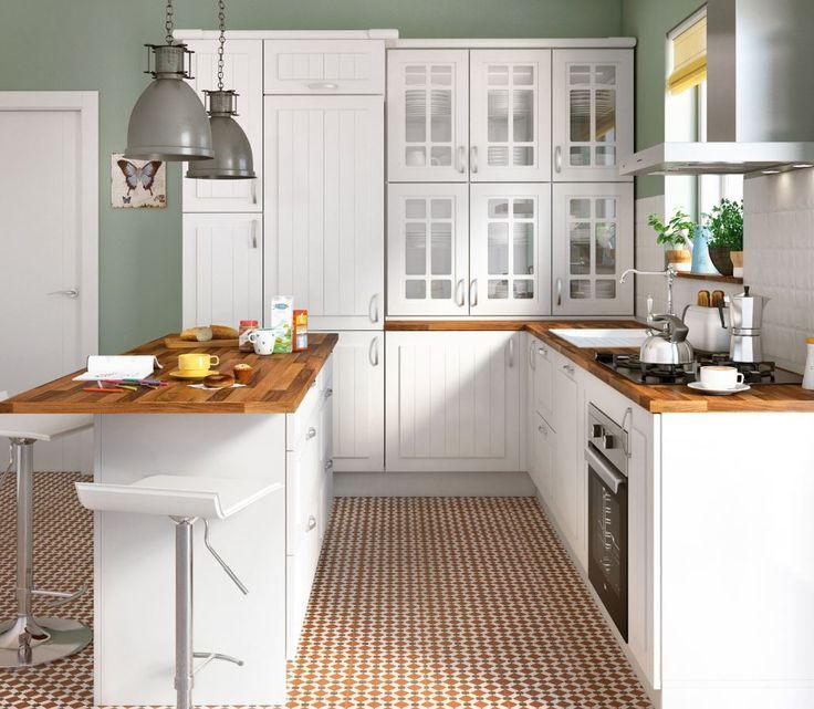 Cocina delinia toscane blanco leroy merlin casa nueva for Muebles de cocina leroy merlin