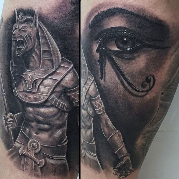 6dcb09714 100 Anubis Tattoo Designs For Men - Egyptian Canine Ink Ideas ...