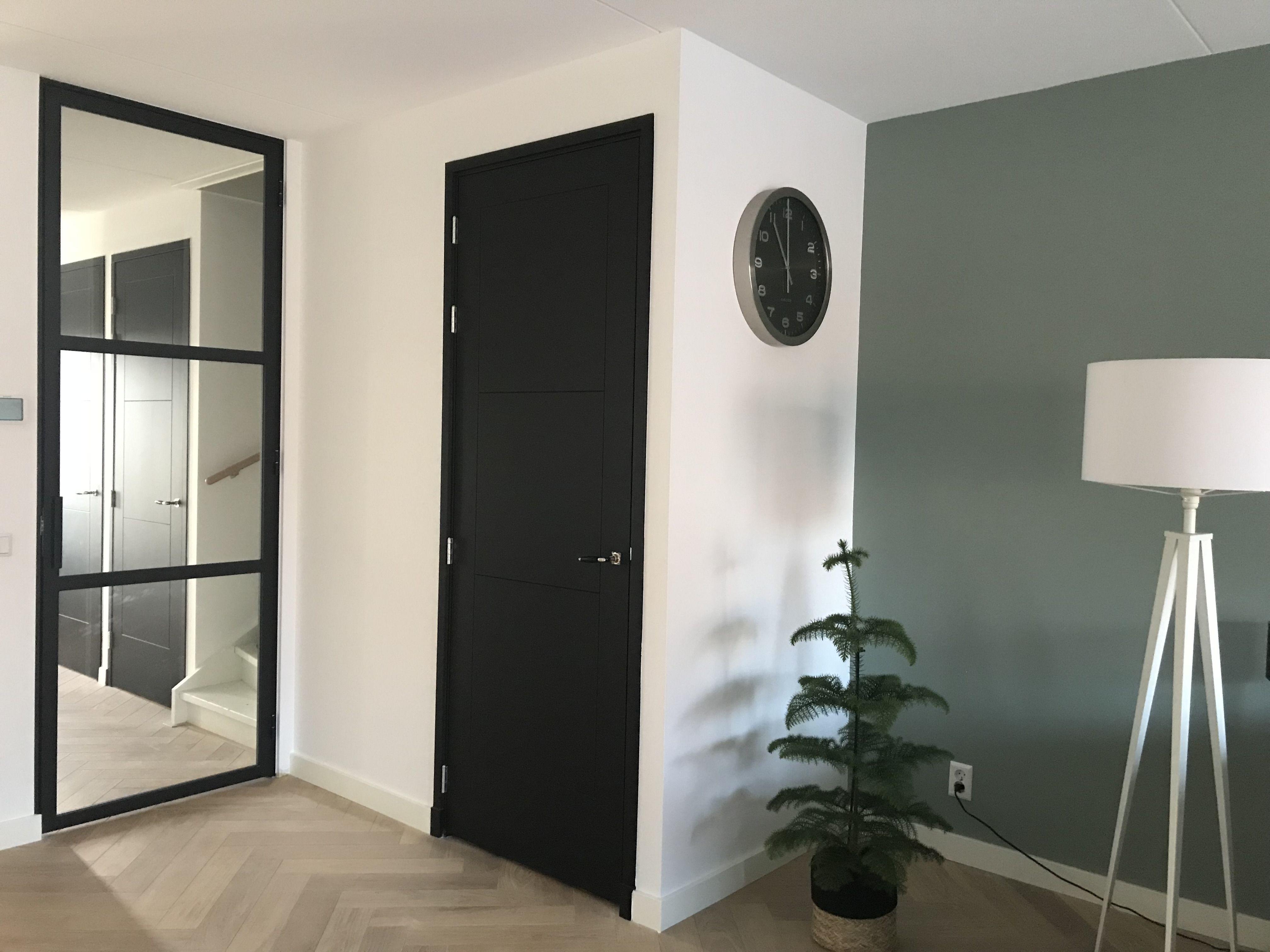 Stalen scharnierdeur met 3 vlakken en hoekgreep mijn stalen deur