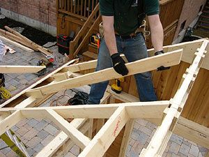 Installing Rafter Onto Ridge Beam Roof Cost Pool Houses Pool Cabana