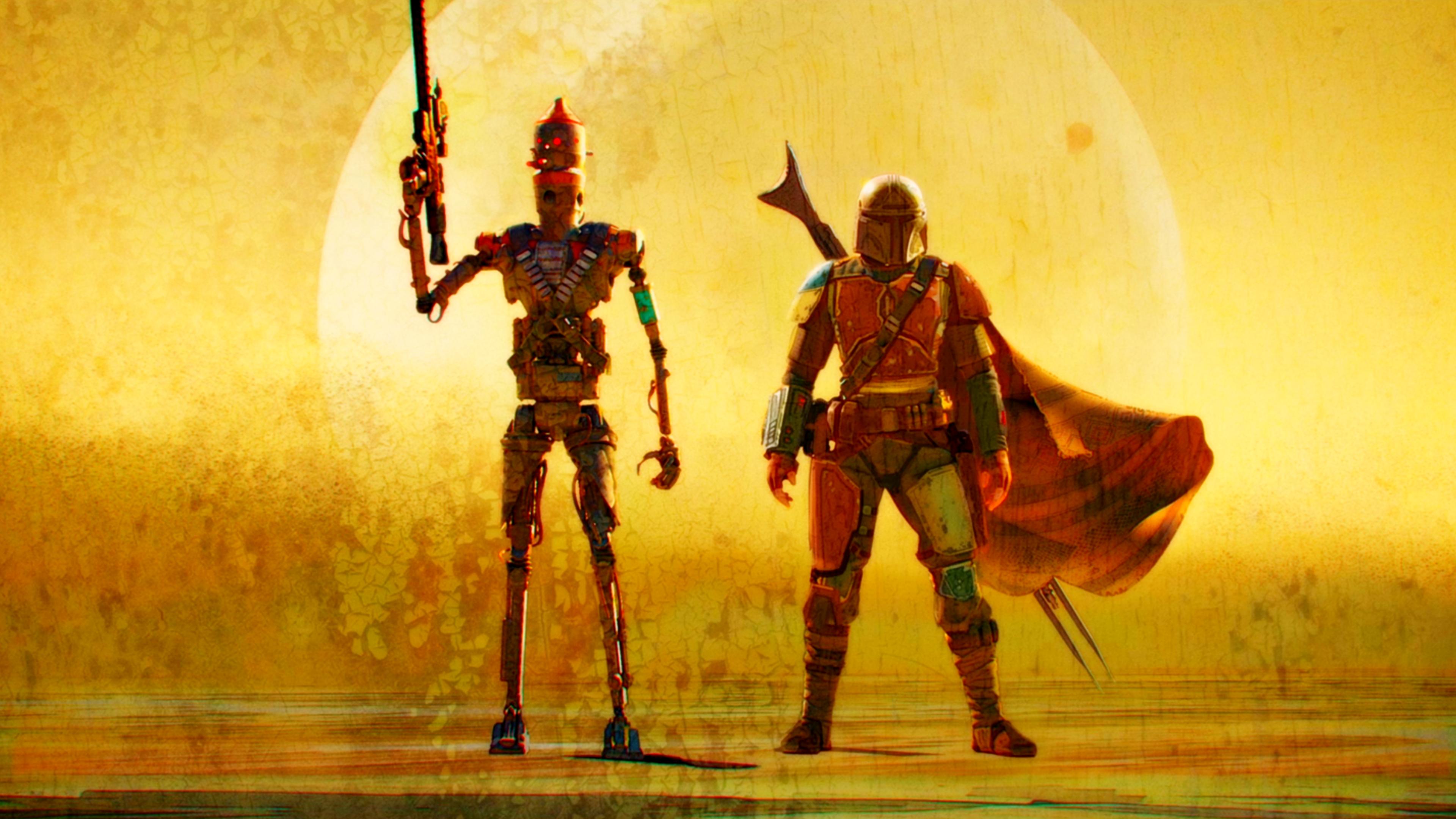 The Mandalorian 3840 X 2160 Star Wars Background Star Wars Wallpaper Star Wars Art