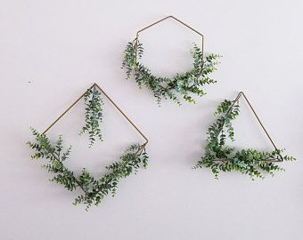 Photo of Modern Nursery Wreath Set, Hoop Wreath Set, Set of 3 Purple Wreaths