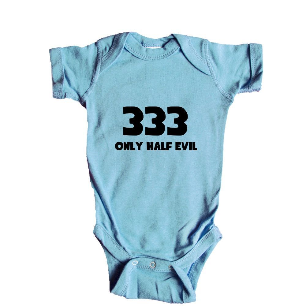 14b07a539 333 Only Half Evil Devil Satan Hell Demons Bad Number Numbers Pun ...