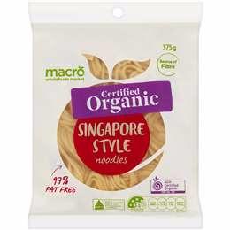 Macro Organic Singapore Noodles 375g Woolworths Singapore Noodles Healthy Balanced Diet Noodles
