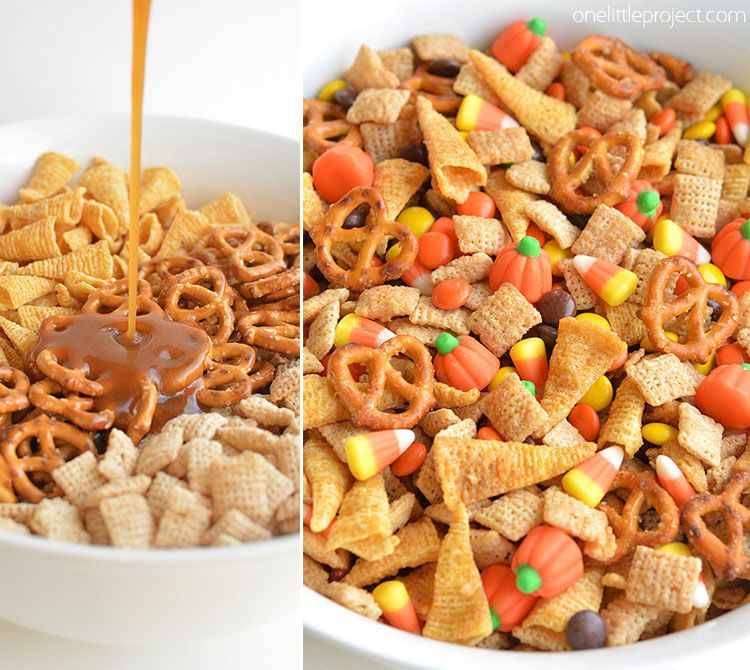 Halloween Harvest Hash Chex Mix Recipe Candy Nuts Pinterest