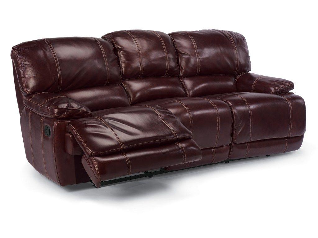 flexsteel capitol double reclining sofa corner lime green latitudes belmont