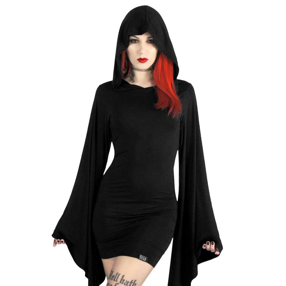 Zwarte lange jurk korte mouw