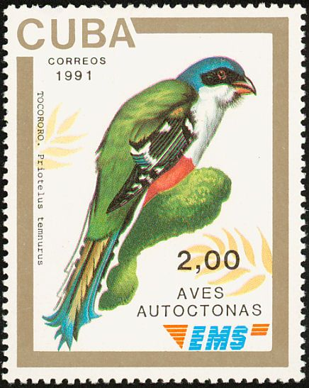 Birds on stamps: Cuba