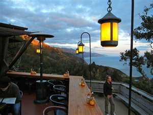 I love Nepenthe in Big Sur!! The food is decent - but the reason to go here...the view, it's all about the view.  And there are many spectacular ones, from all different vantage points, to take in!