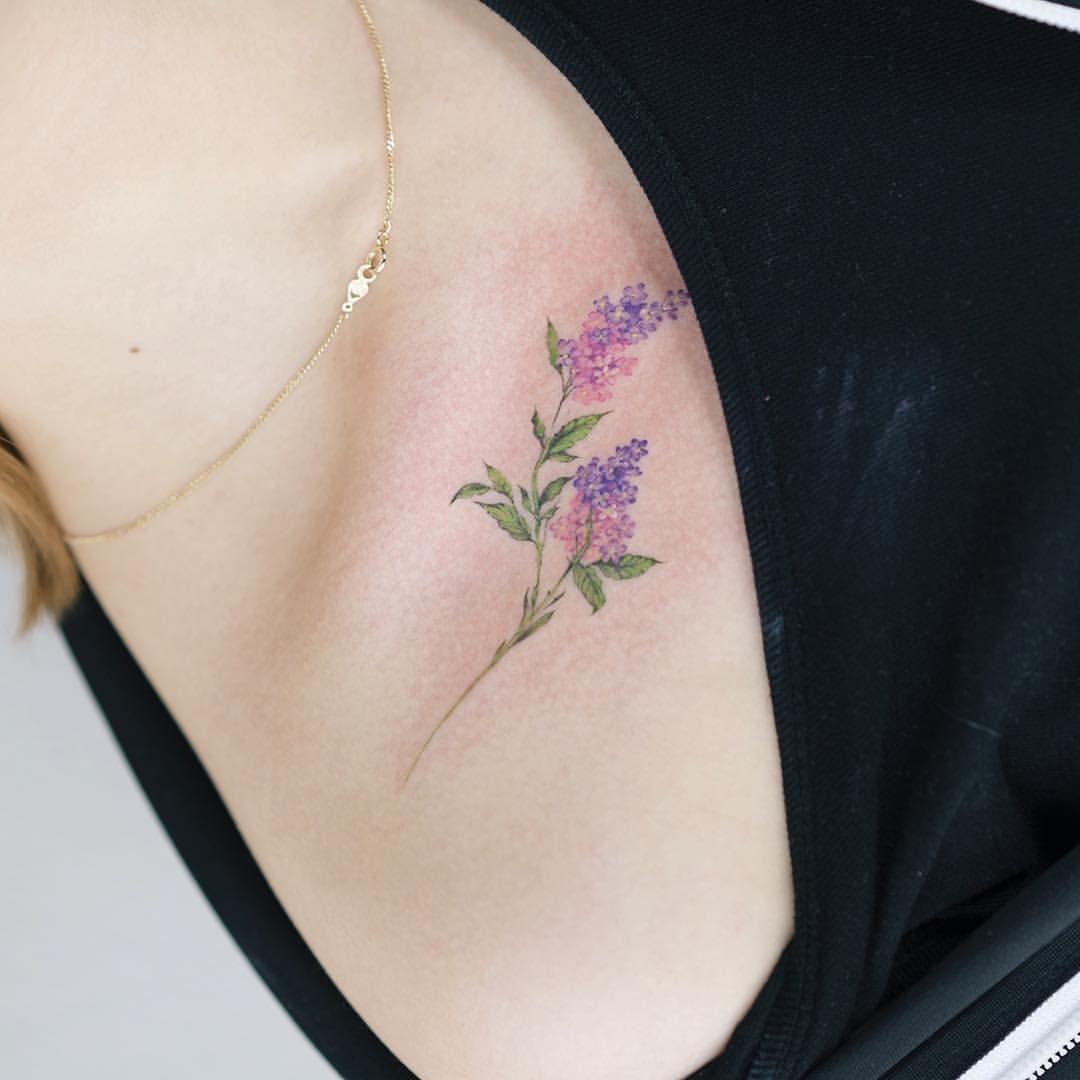 detail lilac flower tattoo tattooist tattooistsol rh in pinterest com small lilac flower tattoo lilac flower tattoo designs