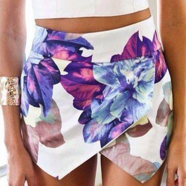 Flowers skirt pants