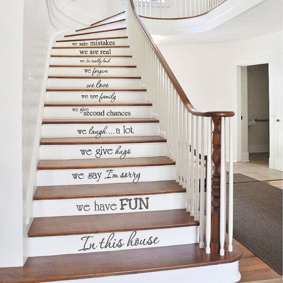 Stair decals in this house family vinyl decals stair riser stickers vinyl