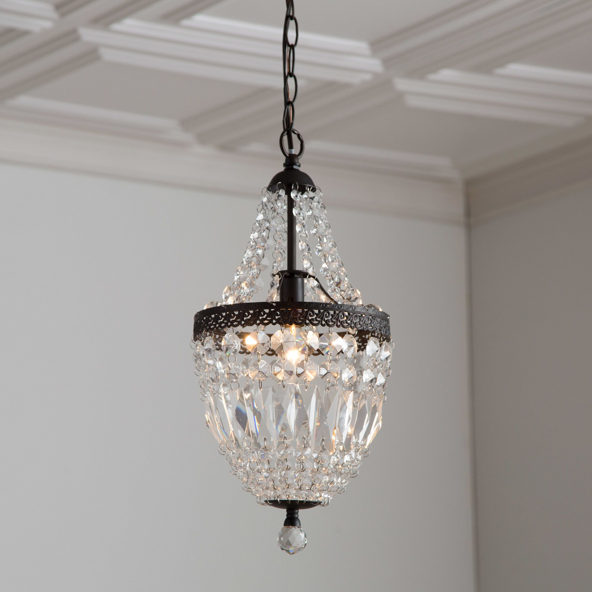 You ll love the Evelynne Mini Crystal Chandelier at Birch Lane
