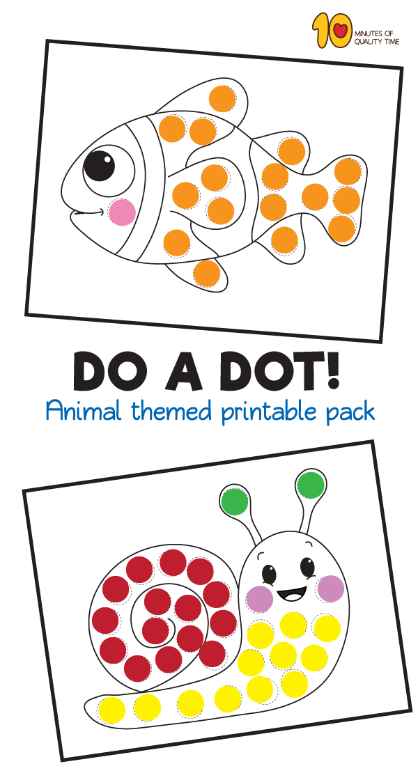 40 animal dot activity do a dot