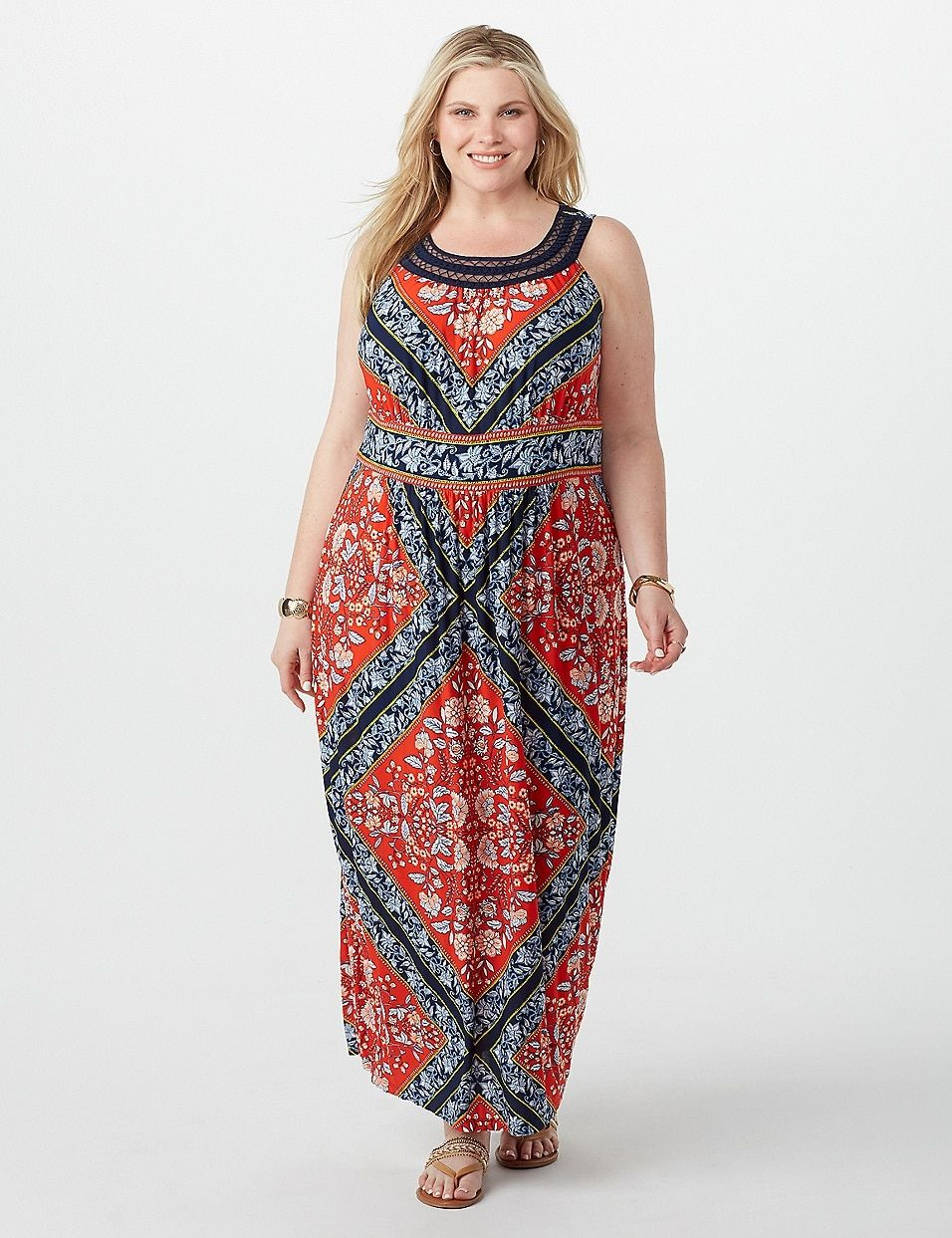 Plus Size Geometric Floral Maxi Dress Dressbarn Floral Maxi Dress Maxi Dress Dresses [ 1243 x 956 Pixel ]