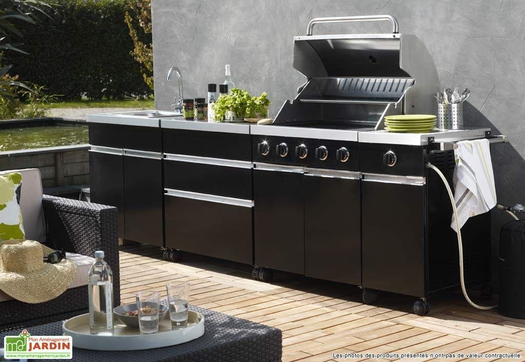 Cuisine ext rieur summer noire jardin pinterest cuisine exterieur ext - Photo cuisine exterieure jardin ...