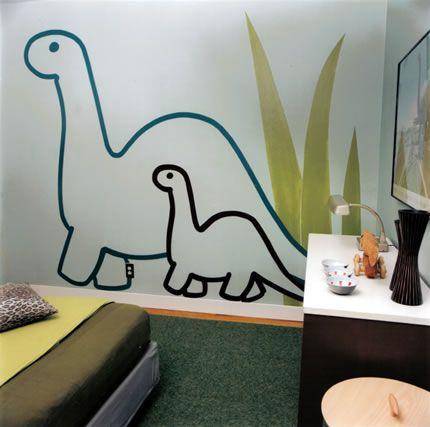 boy\'s dinosaur room / anna stahl - Kids Bedroom Ideas | Pinterest ...
