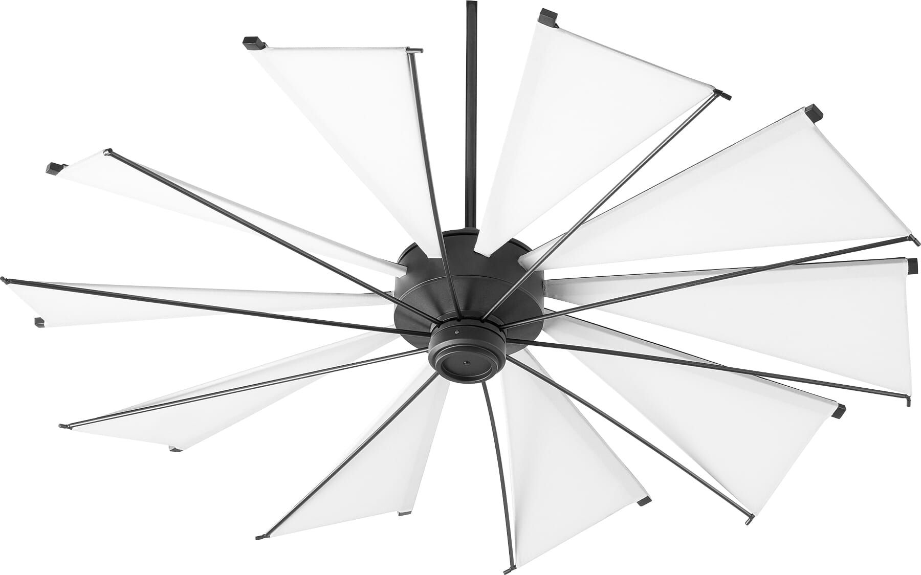 Quorum Mykonos 60 Indoor Outdoor Ceiling Fan In Noir