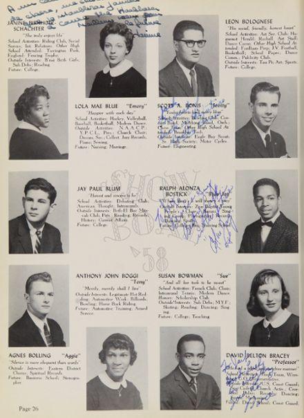 1958 New Rochelle High School Yearbook via Classmates.com