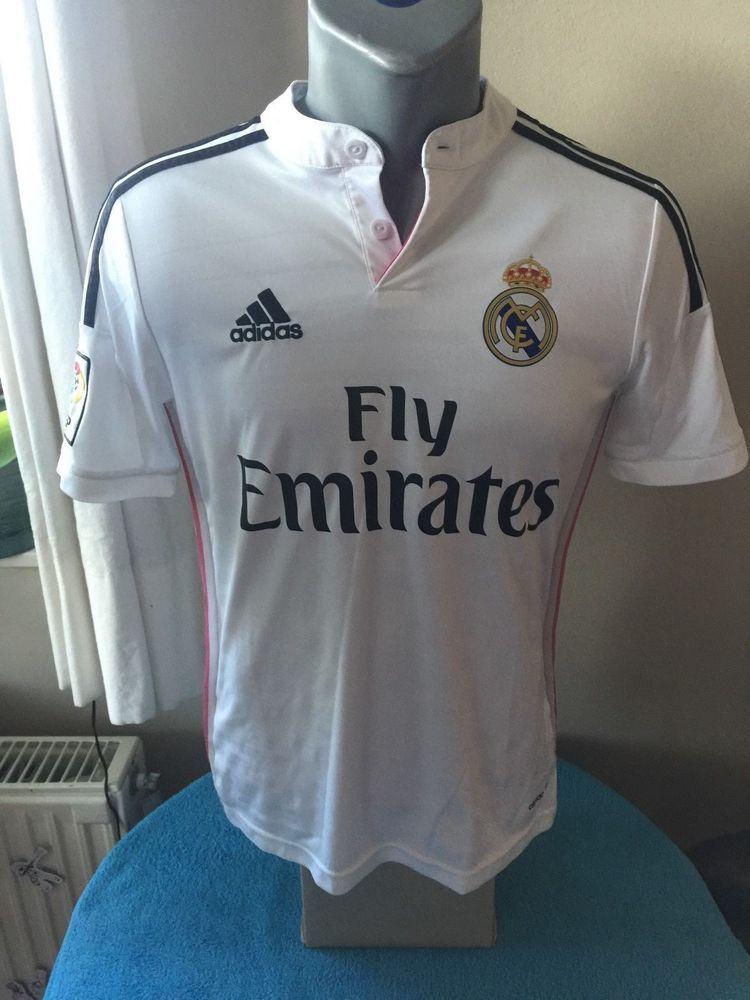 ba2248a91 REAL MADRID CF Football Shirt Camiseta Trikot 2014 15 Home Soccer Jersey  Maillot  adidas