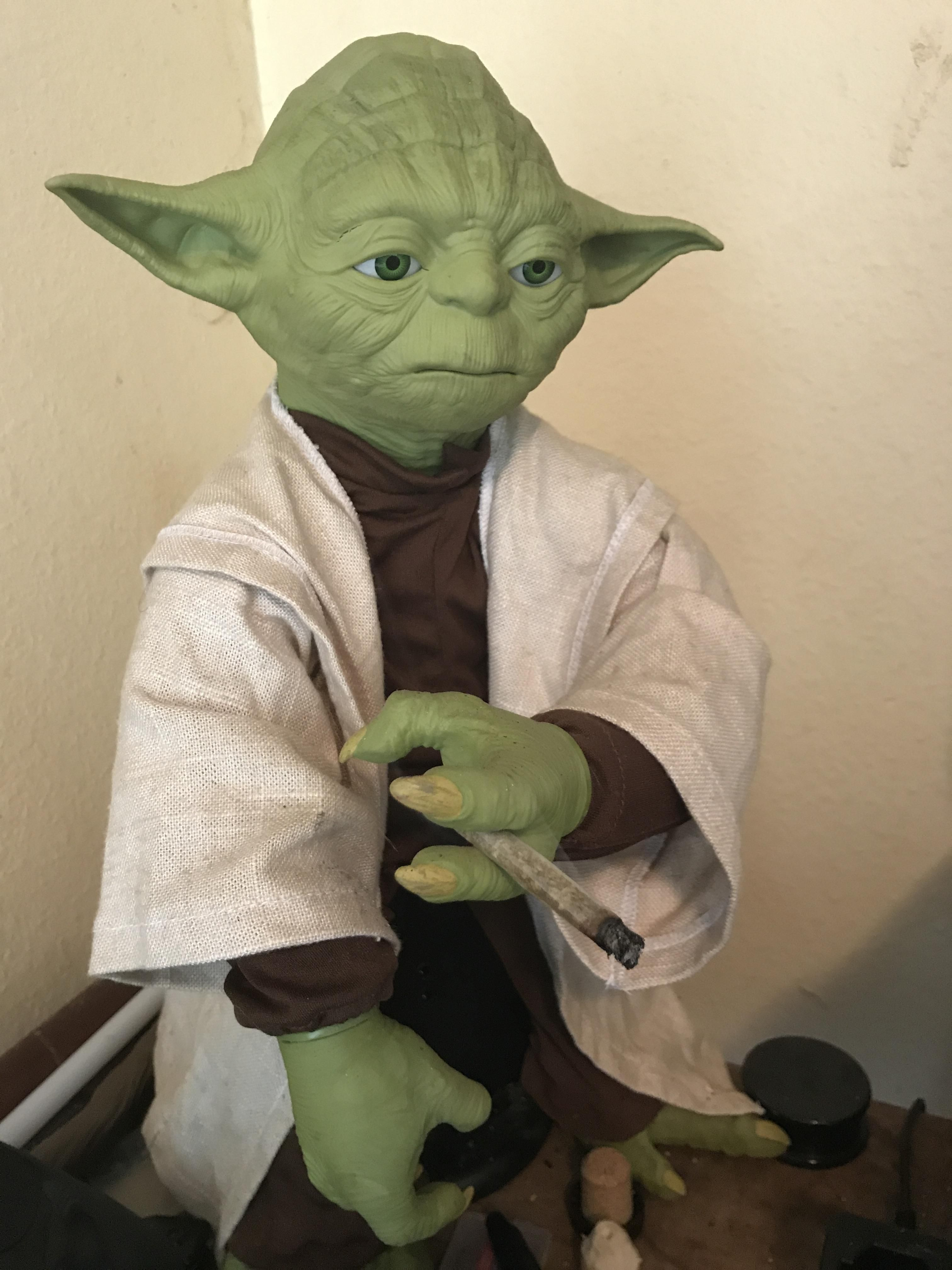 Yoda after dealing with Anakin being all emo trees Pinterest Emo