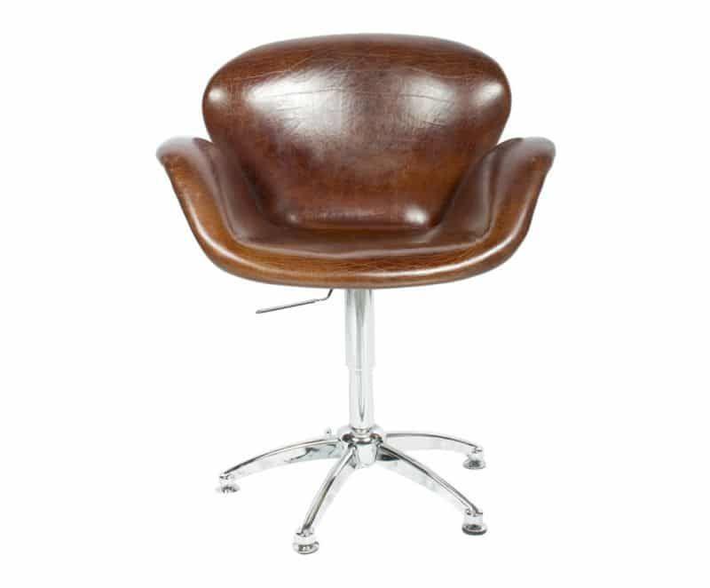 Chaise De Bureau Vintage Fauteuil De Bureau Vintage En Cuir Pleine Fleur Aviateur Le Dpt Chair Office Chair Decor