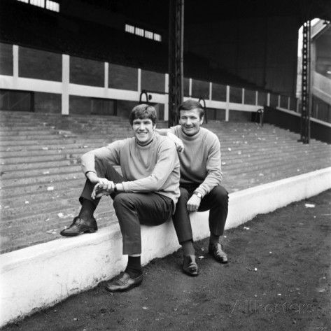 1969 LIVERPOOL PLAYER  TOMMY SMITH and EMLYN HUGHES at ANFIELD