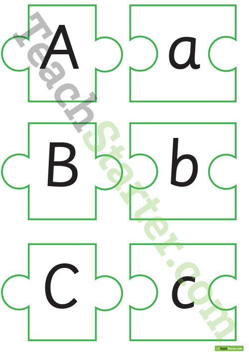Alphabet Puzzles - Upper and Lower Case Letter Recognition Teaching ...
