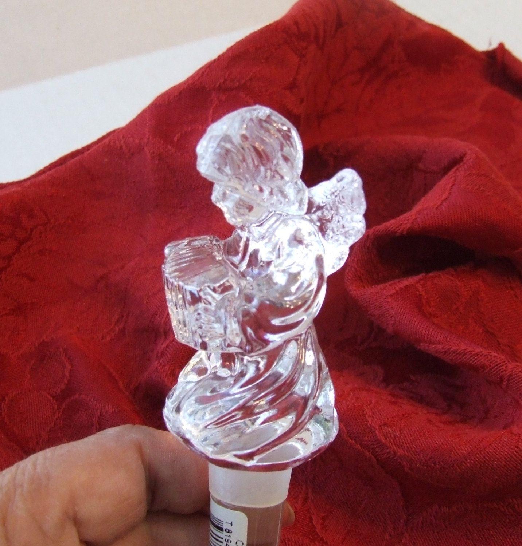 Mikasa Bottle Stopper Cherub Bottle Stopper Mikasa Cherub Song Wine Bottle Stopper Crystal Bottle Stopp Bottle Stoppers Wine Bottle Stoppers Crystal Angels