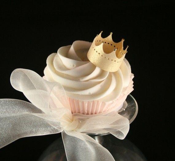edible cupcake #crowns #party_idea