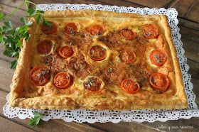 Hojaldres, tomates, queso de cabra, aperitivos, entrantes, Julia y sus recetas