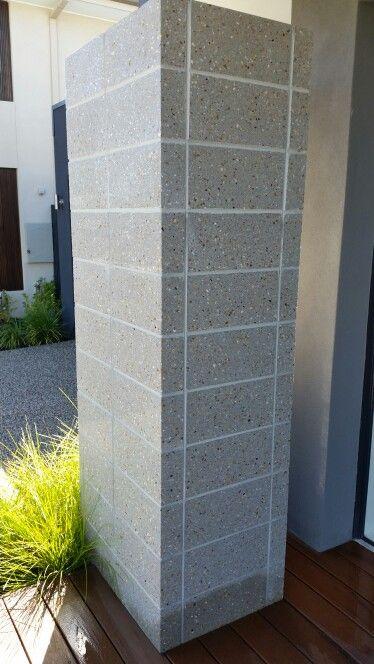 Carlisle Canterbury Feature Brick Pillar National Masonary Polished Pearl Grey Blockwork 390mm X 190mm X Brick Cladding Concrete Walls Interior Facade House