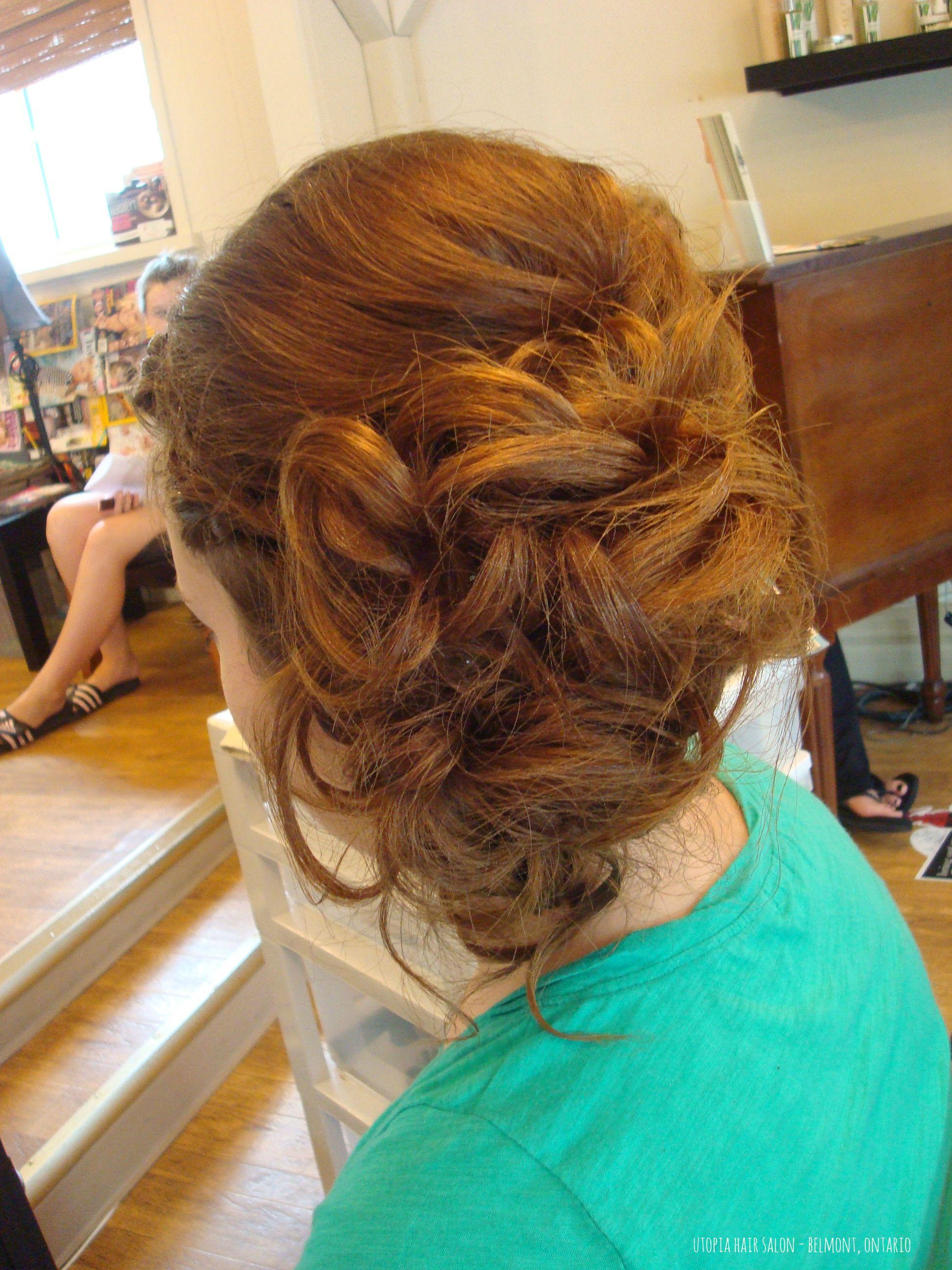 Pretty updo perfect for summer weddings utopia hair salonbelmont