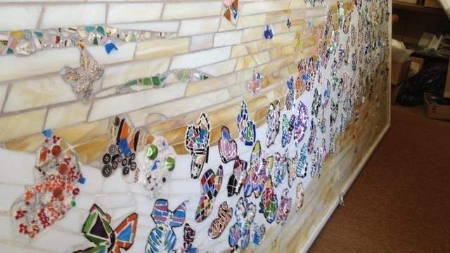 Neighbors and other friends of Arbutus Park near downtown Appleton are putting finishing touches on a mosaic project bringing butterflies to an urban area
