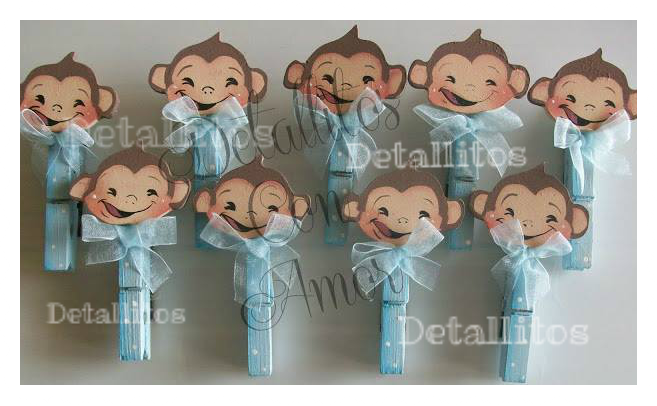 Detallitos para baby shower changuitos con pinzas souvenires party favors pinterest - Detallitos para ninos ...